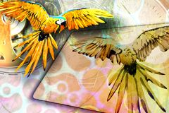 Abstract background with a bird. Royalty Free Stock Photo