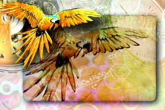 Abstract background with a bird. Royalty Free Stock Photography