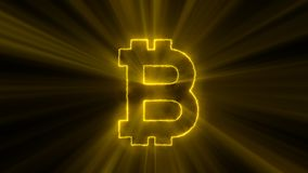 Abstract background with bitcoin sign Royalty Free Stock Photo