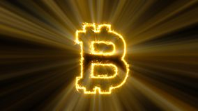 Abstract background with bitcoin sign Stock Photos
