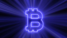 Abstract background with bitcoin sign Stock Photography