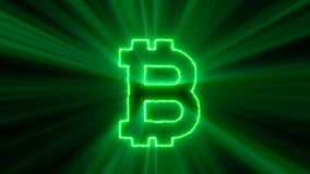 Abstract background with bitcoin sign Royalty Free Stock Photos