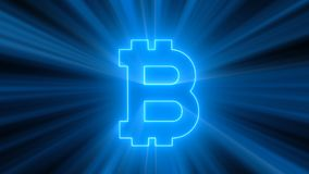 Abstract background with bitcoin sign Stock Image