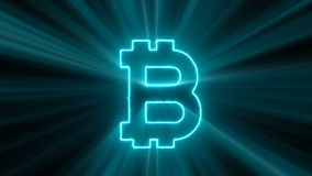 Abstract background with bitcoin sign Stock Images