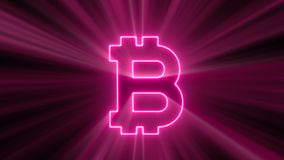 Abstract background with bitcoin sign Royalty Free Stock Image