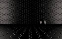 Abstract background of the black Ball Royalty Free Stock Photography