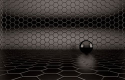 Abstract background of the black Ball Royalty Free Stock Photo