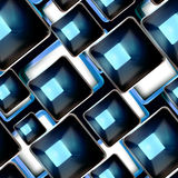 Abstract background, black and blue seamless Stock Photography