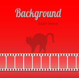 Abstract background. With black cat stock illustration