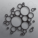 Abstract background with black circles. RGB EPS 10 Royalty Free Stock Image