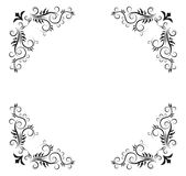 Abstract background. Black floral frame -  web design element Royalty Free Stock Photo