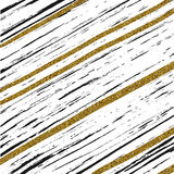 Abstract background with black and gold diagonal lines. Abstract background with diagonal black and gold lines, vector striped wallpaper stock illustration