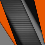 Abstract background with black gray orange design stripes. Vector eps 10 royalty free illustration