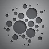 Abstract background with black and grey circles Royalty Free Stock Images