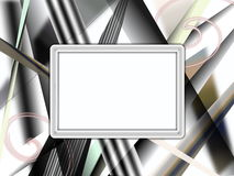 Abstract background. In black grey and white colour scheme with black frame in the center royalty free illustration