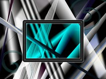 Abstract background. In black grey and white colour scheme with black frame in the center vector illustration
