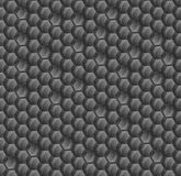 Abstract background of black hexagons. Wallpapers for web sites. Large honeycombs are connected. Shine on the surface. 3D  Stock Image