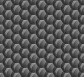 Abstract background of black hexagons. Wallpapers for web sites. Large honeycombs are connected. Shine on the surface. New technol Stock Photo