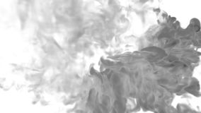Abstract background black Ink or smoke with alpha mask for motion effects and compositing VFX. Beautiful Ink clouds or stock footage