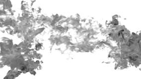 Abstract background black Ink or smoke with alpha mask for motion effects and compositing VFX. Beautiful Ink clouds or stock video footage