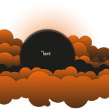 Abstract background of black-and-orange clouds. Abstract vector background of black-orange clouds vector illustration
