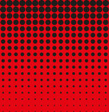Abstract background black red halftone Stock Image