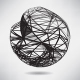 Abstract background with black sphere on theme digital. Technology and internet stock illustration