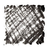 Abstract background with black textured strokes Stock Photography