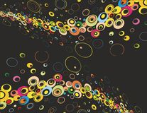 Abstract background black. Abstract background in various colors vector illustration