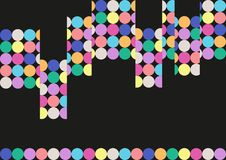 Abstract background. Black abstract vector background with rainbow colored circles Stock Photo