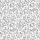 Abstract background with black and white circles Royalty Free Stock Photography