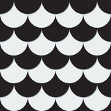 Abstract background from black and white circles. Vector illustration Stock Photo