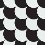 Abstract background from black and white circles. Vector illustration Royalty Free Stock Photos