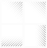 Abstract background in black and white colors. Four variants. Vector illustration Stock Illustration