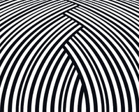 Abstract background. Black and white curve lines. Stock Image