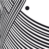 Abstract background. Black and white curve lines with frame for message. Stock Images