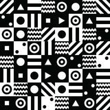 Abstract background with black and white elements illustration. Abstract background with black and white elements art illustration Vector Illustration