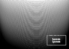 Abstract background 24 black and white. Horizontal abstract background with striped halftone pattern in black and white colors. Texture of gradient semicircle Royalty Free Stock Photos