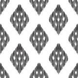 Abstract background. Ikat seamless pattern. Abstract background. Black and white Ikat seamless pattern for textile, wallpaper, card or wrapping paper Royalty Free Illustration
