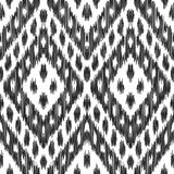Abstract background. Ikat seamless pattern. Abstract background. Black and white Ikat seamless pattern for textile, wallpaper, card or wrapping paper Stock Illustration