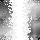 Abstract background with black and white pixels Stock Photography