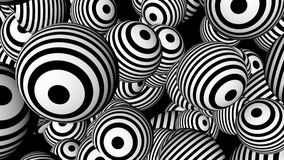 Abstract background with black and white spheres. 3d rendering Royalty Free Stock Images