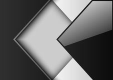 Abstract background black and white. Squares, vector illustration stock illustration