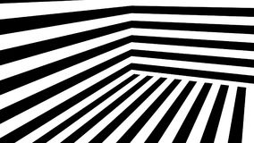 Abstract background with black and white stripes. 3d rendering Royalty Free Stock Photography