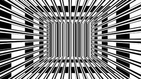 Abstract background with black and white stripes. 3d rendering Royalty Free Stock Photo