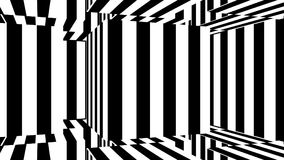 Abstract background with black and white stripes. 3d rendering Stock Photography