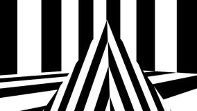 Abstract background with black and white stripes. 3d rendering Stock Image