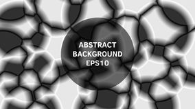 Abstract background in black and white style. Geometric shapes. Blurry textures. The illusion of volume stock illustration