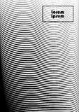 Abstract background 34 black and white. Vertical abstract background with striped halftone pattern in black and white colors. A wavy texture of gradient line royalty free illustration