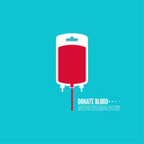 Abstract background with blood bag. Donation. Vector image help the sick and needy. dropper with drop Stock Illustration
